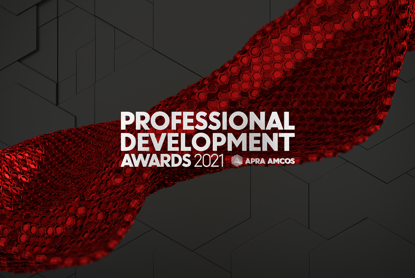 The Professional Development Awards logo a red banner on a black background