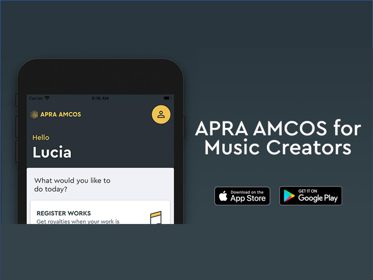 APRA AMCOS FOR MUSIC CREATORS APP