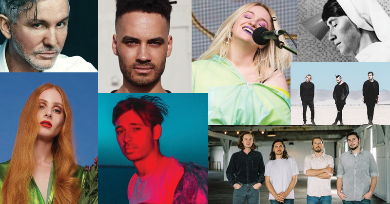 Collage of australian grammy nominees